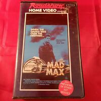 MAD MAX rare Roadshow VHS Video Cult 70s Australian biker road action Clamshell