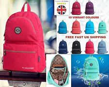 Ladies Women Travel Backpack College LARGE Rucksack School Bag Water Resistant