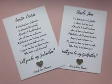 Will you be my/our Godmother Godfather Godparents Poem Request Card & Envelope