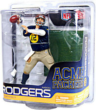 Aaron Rodgers Acme Packers NFL McFarlane Action Figure Green Bay Throwback Pack