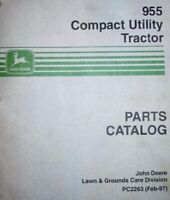 John Deere 955 Compact Utility Tractor Parts Catalog PC2263 - Digital Format