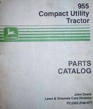 John Deere 955 Compact Utility Tractor Parts Catalog Pc2263 Digital Format