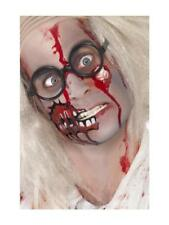 ZOMBIE MAKEUP KIT FACE PAINT LATEX EYEBALL AND BLOOD HALLOWEEN HORROR