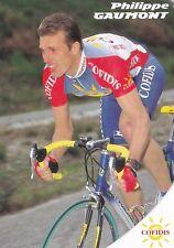 CYCLISME carte cycliste PHILIPPE GAUMONT équipe COFIDIS 1998
