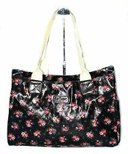 Lee Cooper Womens Black Pink Casual Floral Tote Carry Handbag RRP 29.99 NEW