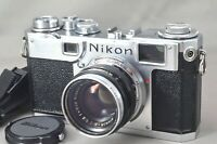 =Excellent= Nikon S2 rangefinder 35mm Film Camera + Nikkor-H・C 50mm F/2 *139