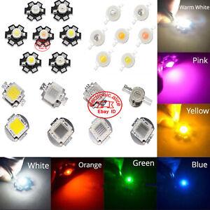 1W 3W 10W 20W 50W 100W 3V-36V High Power LED Lamp Light COB SMD Bulb Chip DIY