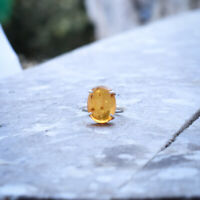 Magnificent Baltic Amber Gemstone 925 Sterling Silver Handmade Ring All Size