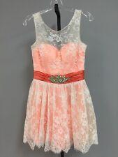 Landa Womens Cocktail/Party dress Size 10 Apricot/Ivory Lace