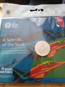 2018 A Symbol of the Skies £2 coin BU pack. Sealed/Mint