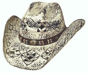 GIRL NEXT DOOR Brown QUALITY Toyo Straw Western Cowboy Hat Bullhide MonteCarlo