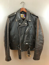 Schott Perfecto 618 size 42 cowhide leather double motorcycle jacket racer