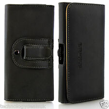 Universal PU Leather Belt Loop Holster Case Magnetic Closure Cover Mobile Phones