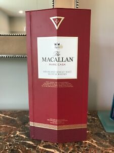 The Macallan Rare Cask Highland Box & Empty Bottle Excellent Condition