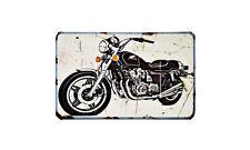 Cb900 Custom Motorbike Sign Metal Retro Aged Aluminium Bike