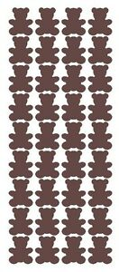 "1"" Brown Teddy Bear Stickers Baby Shower Envelope Seals School arts Crafts"