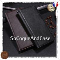 Etui coque Housse Cuir Véritable Genuine Leather case Samsung Galaxy A10 A40 A50