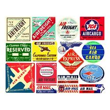 Airplane Luggage Labels, 2 Sticker Sheets, Baggage Labels, Retro Travel Stickers