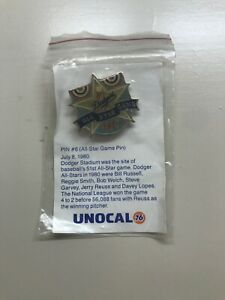 """1987 LOS ANGELES DODGERS UNOCAL 76 PIN #6 """"ALL-STAR GAME PIN"""""""