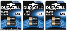 6x Duracell Ultra M3 Photo 123 Lithium Battery 3 Volt - Dl123A CR123 A El123A