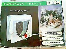 Animal Door Up To 15 lb. 4 Way Lock Pet Safe Cat/Dog Flap C-Thru Locking H14