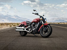 """Indian Scout Motorcycle Open Road & Mountains - 17"""" x 22"""" Fine Art Print - 00184"""