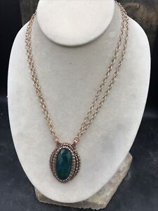 Barse Isabel Green Onyx Necklace-Copper- NWT
