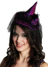 Chapeau de sorcière An Pince à cheveux avec netzschleier NEUF - Carnaval