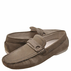 Men's Shoes Kenneth Cole Reach Ur Goal Suede Drivers KMS6NU013 Light Grey *New*