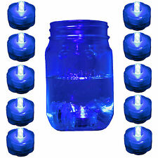 10 Pack Blue Submersible Waterproof Underwater Battery LED Tea Light~Wedding