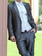 Hochzeitsanzug Wilvorst, Slimline, grau, silber