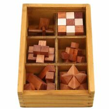 Wooden Kong Ming Lock Game Toy For Children Adults Kids IQ Brain Teaser Puzzles