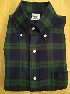NWOT Southwick for SHIPS Black Watch Flannel Button Down Small 14.5-32 Slim Fit