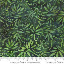 Bahama Batiks Moda cotton batik fabric by half-yard Jungle #4352 19 dark green
