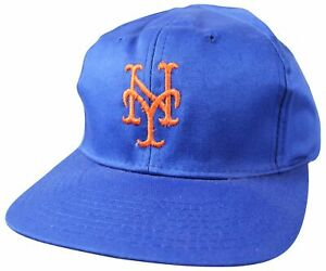 New VTG Early 2000s NEW YORK METS Snapback CAP One Size NY Baseball HAT NWT NOS