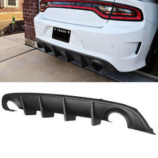 Fits 15-19 Dodge Charger SRT OE Style Rear Lip Bumper Valance Diffuser PP