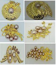 Fashion vintage brooch pin rhinestone wedding bridal bouquet jewelry lot 3