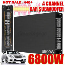 6800W Car Amplifiers Monoblock 4 Channel Subwoofer Stereo Audio HiFi Bass Amp