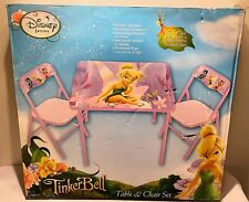 Disney Faries Tinkerbell Kids Cardboard Table and Chairs Set Brand NEW FREE SHIP