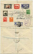 NEW ZEALAND REGISTERED to NETHERLANDS FORWARDED SCHOUTEN CENSORED IMPERIAL 1945