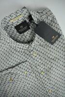 RRP $149 SCOTCH & SODA Men's X LARGE Regular Fit Palm Tree Pattern Shirt 3350*mm