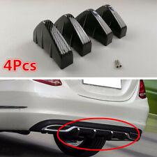 4x Universal Car Rear Bumper Diffuser Fin Spoiler Lip Wing Splitter Carbon Fiber