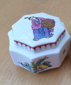 Royal Worcester Oriental Garden trinket box
