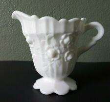 FENTON - RAISED ROSES - MILK GLASS CREAMER