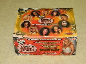 2002 Fleer WWE Absolute Divas Empty Display Box (SCARCE!)