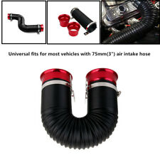 "Adjustable Flexible Car Cold Air Intake Duct Turbo Piping Tube 3""Inlet Hose Part"