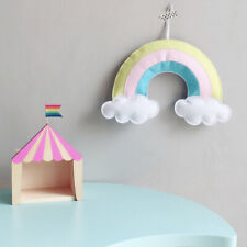 JU_ Nordic Rainbow Cloud Hanging Ornament Baby Bed Pendant Kids Room Decor Mys