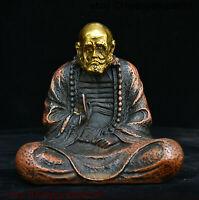 Chinese Buddhism Bronze Copper Arhat Monk Damo Bodhidharma Dharma Buddha statue