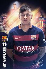 Neymar Jr. The One Fc Barcelona Signature Series Football Soccer Action Poster