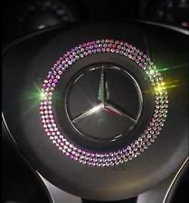 Car Accessory Silver Diamond Steering Wheel Badge Trim Mercedes Benz B Class